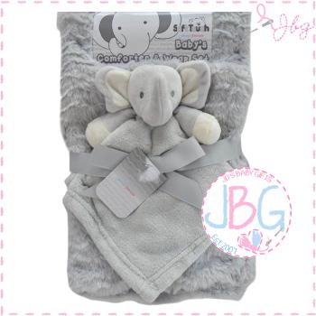 Luxury personalised blanket & comforter set in Grey