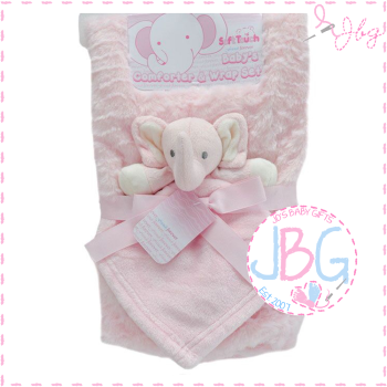 Luxury personalised blanket & comforter set in Pink