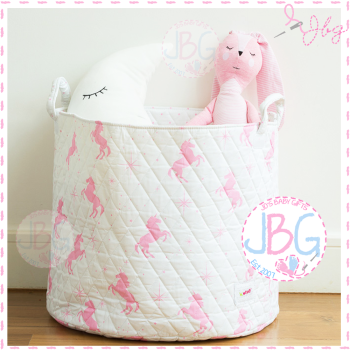White Unicorn Storage Bag