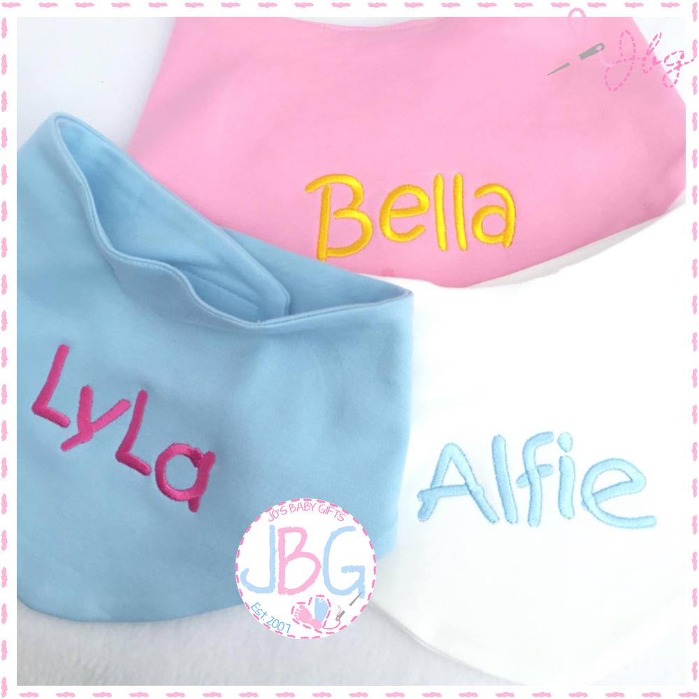 Personalised Bandana Baby Bibs