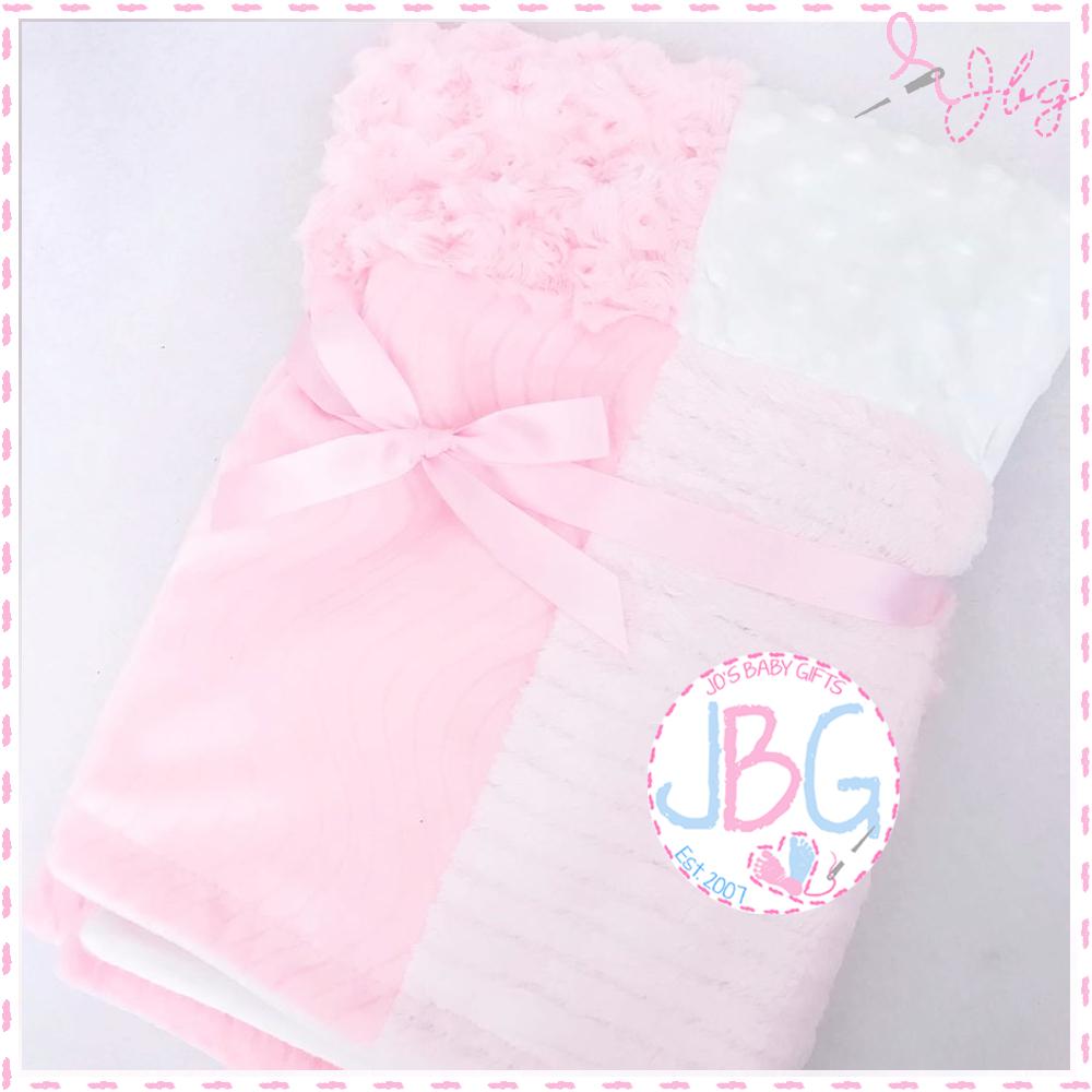 Personalised Pink Patchwork Blanket