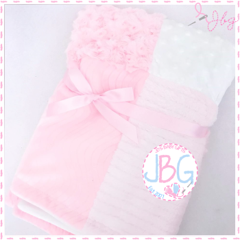 Personalised Pink Patchwork Blanket