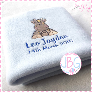 Giraffe Personalised Baby Blanket