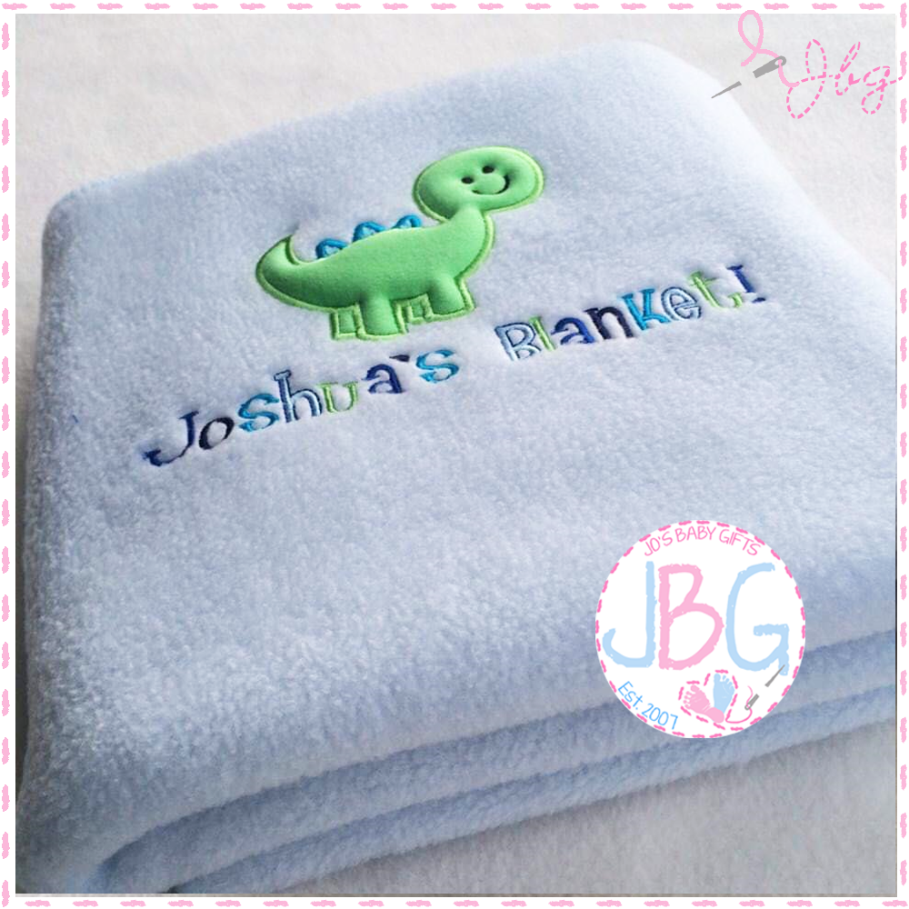 Personalised Baby Dinosaur Blanket