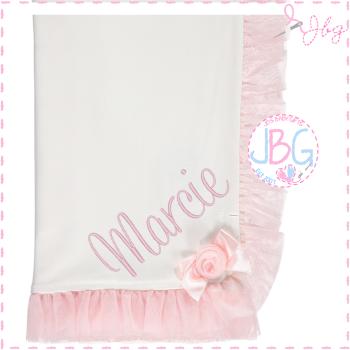 Luxury rose detail cotton blanket
