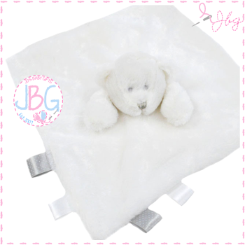 Personalised Elephant Comforter in white