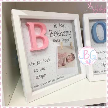 Girls Handmade Personalised Frame