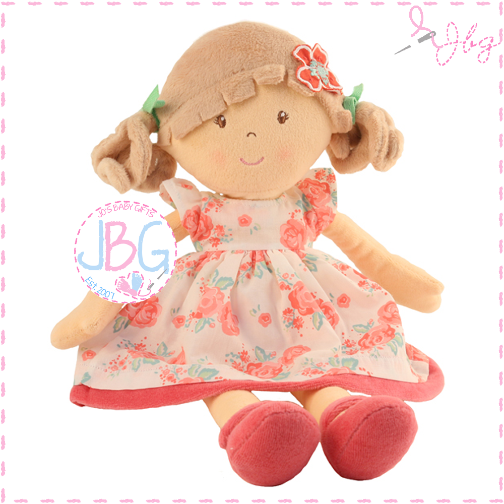 Personalised Rag Doll- Flower Girl Pink