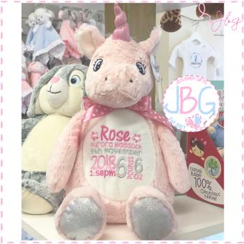 Mumbles Pink Unicorn Bear