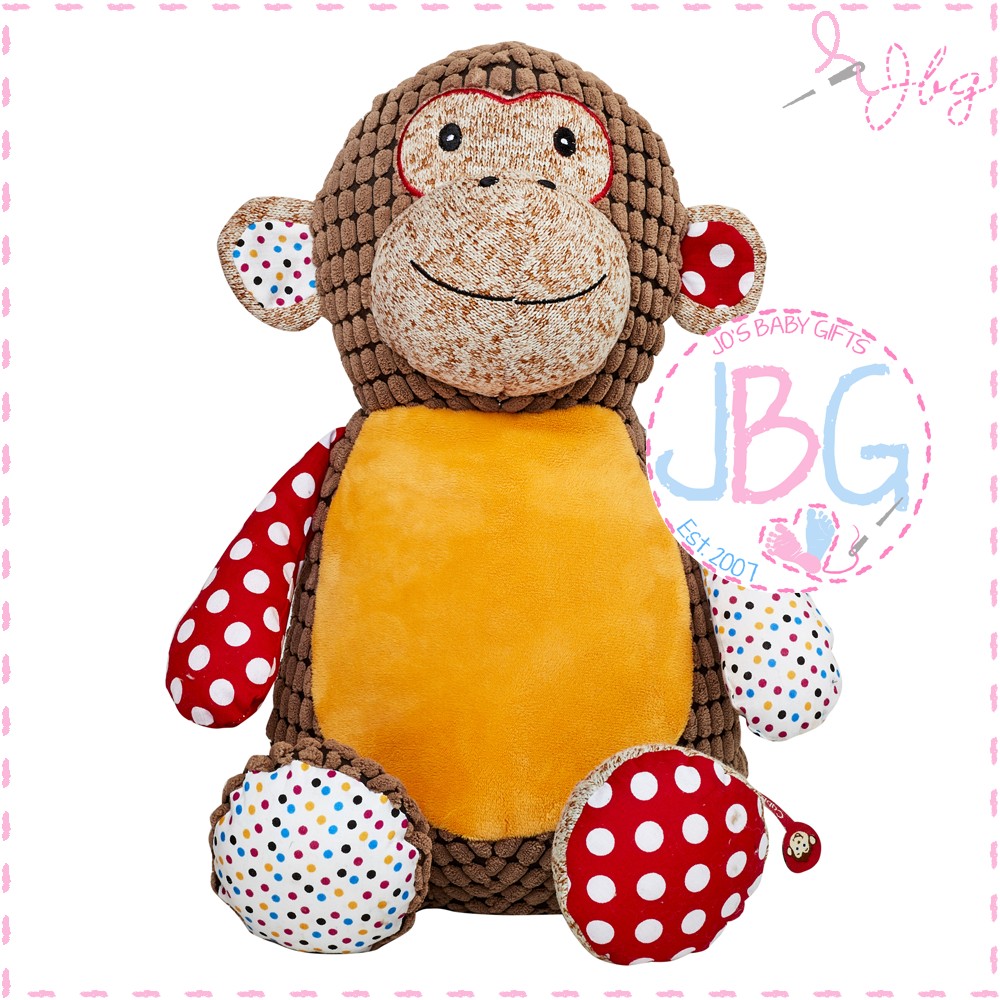 Huggles Cubby Brown Monkey