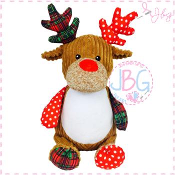 Personalised Patchwork Reindeer Cubby