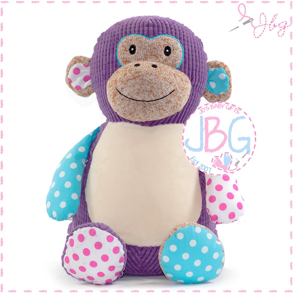 Huggles Cubby Purple Monkey
