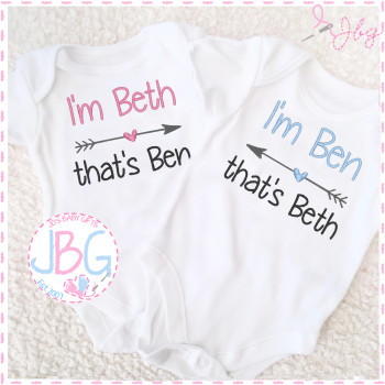 Personalised Vests for Twins - Arrow Design