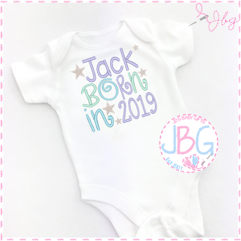 Personalised 2019 Baby Boys Vest