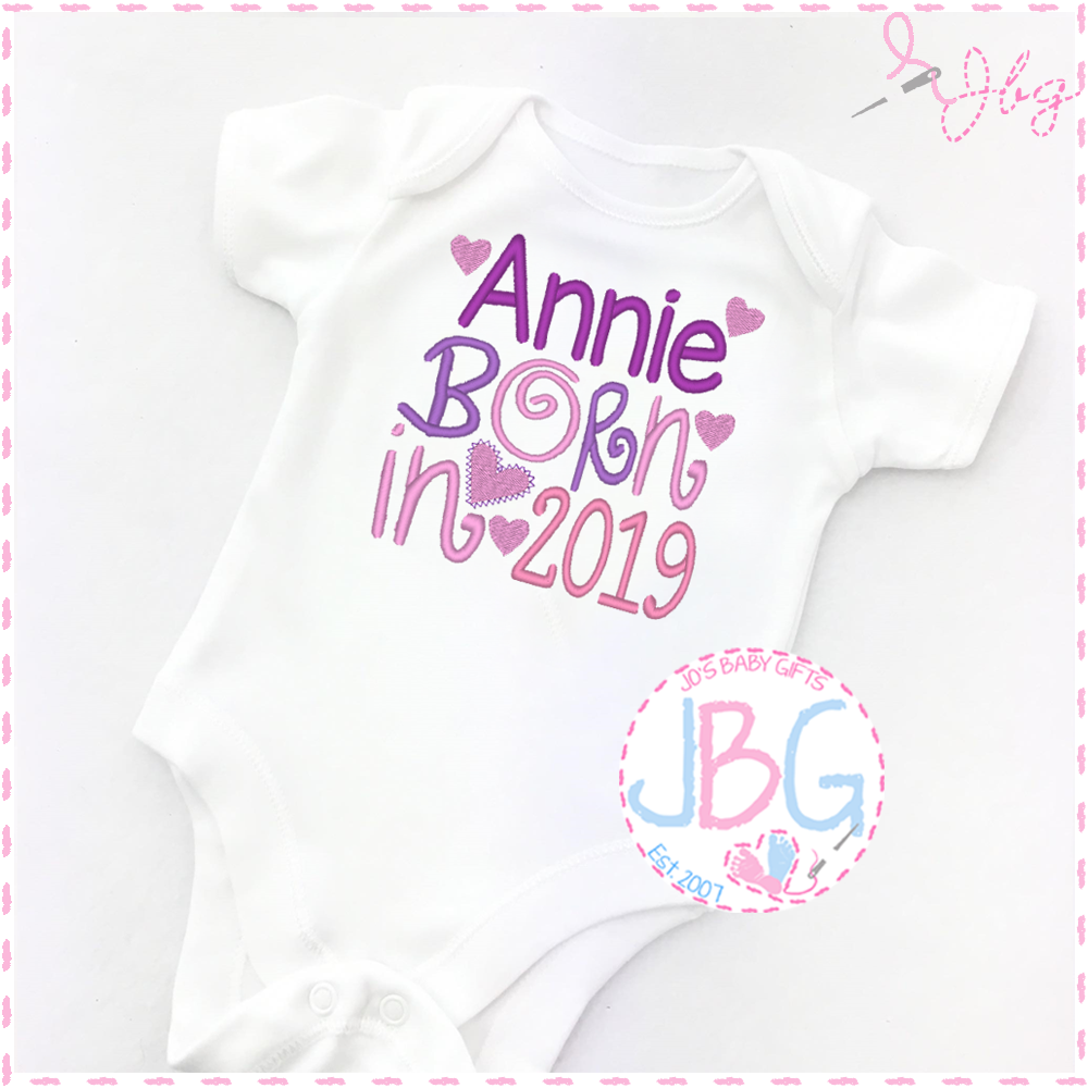 Personalised 2019 Baby Girls Clothing