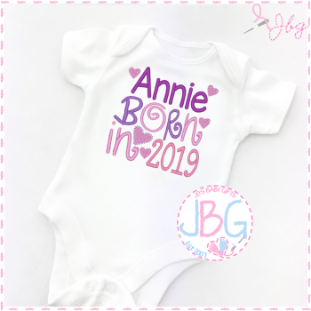 Personalised 2019 Baby Girls Vest