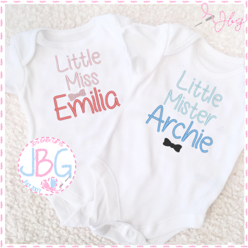 Little Miss / Little Mister Personalised Vest