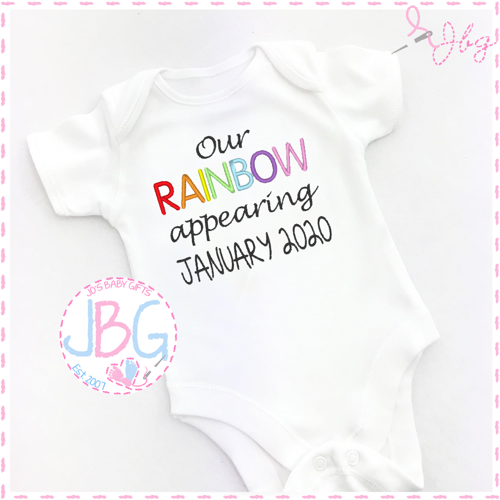 Personalised Rainbow baby vest
