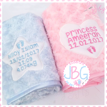 Fluffy Personalised Blanket - Star or Heart
