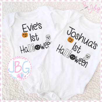 Personalised Vest For Babies 1st Halloween
