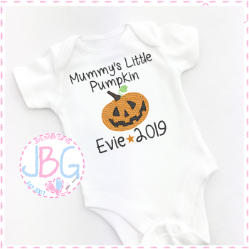 Personalised Pumpkin Vest For Babies 1st Halloween
