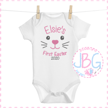 Personalised Girls 1st Easter Bunny Vest