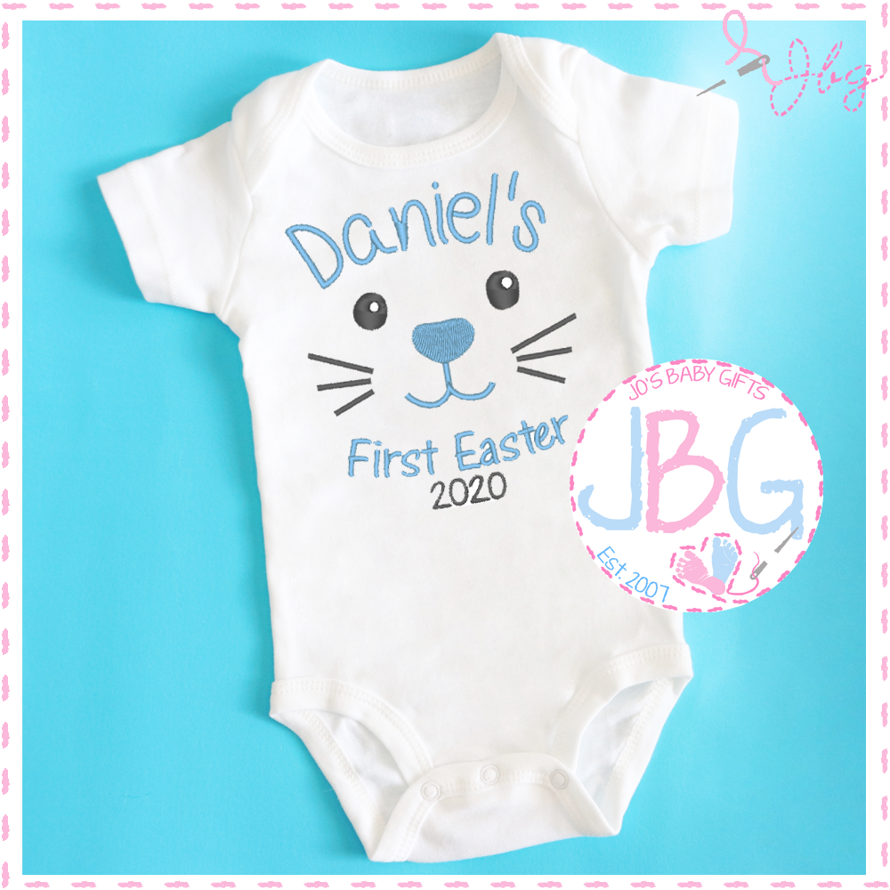 Personalised Boys 1st Easter Bunny Vest