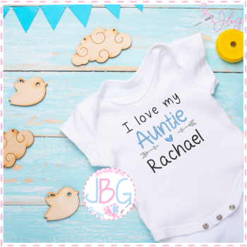 I love my Auntie - Personalised Baby Boys Vest