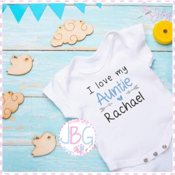 I love my Auntie - Personalised Baby Boys Vest