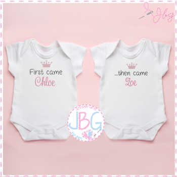 Personalised Vests for Twins - First came/ then came...