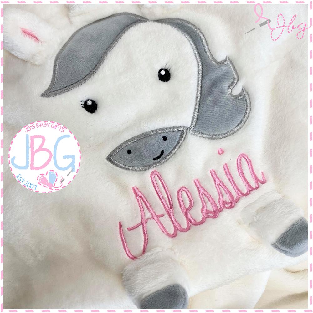Luxury Personalised Unicorn Blanket