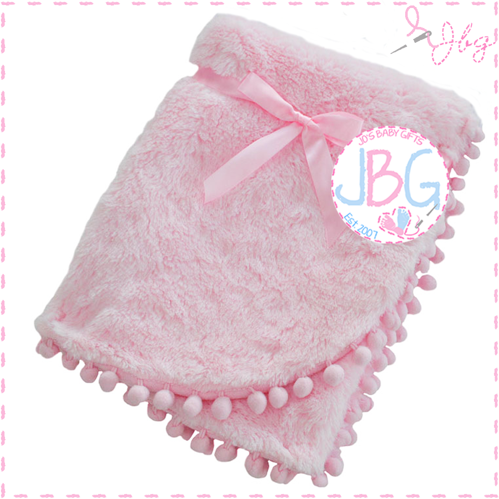 Deep Fluffy Pink Blanket
