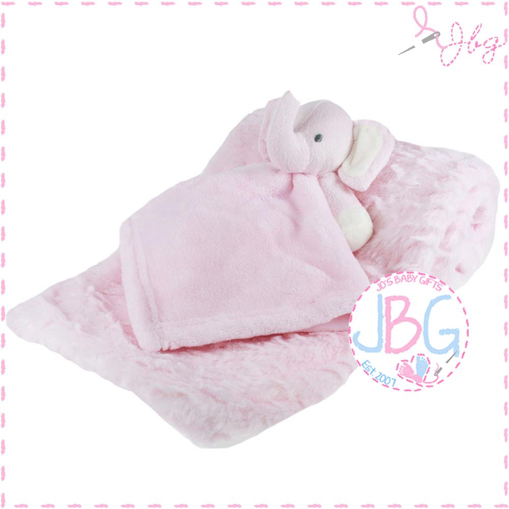 Luxury personalised blanket & comforter set in Pink
