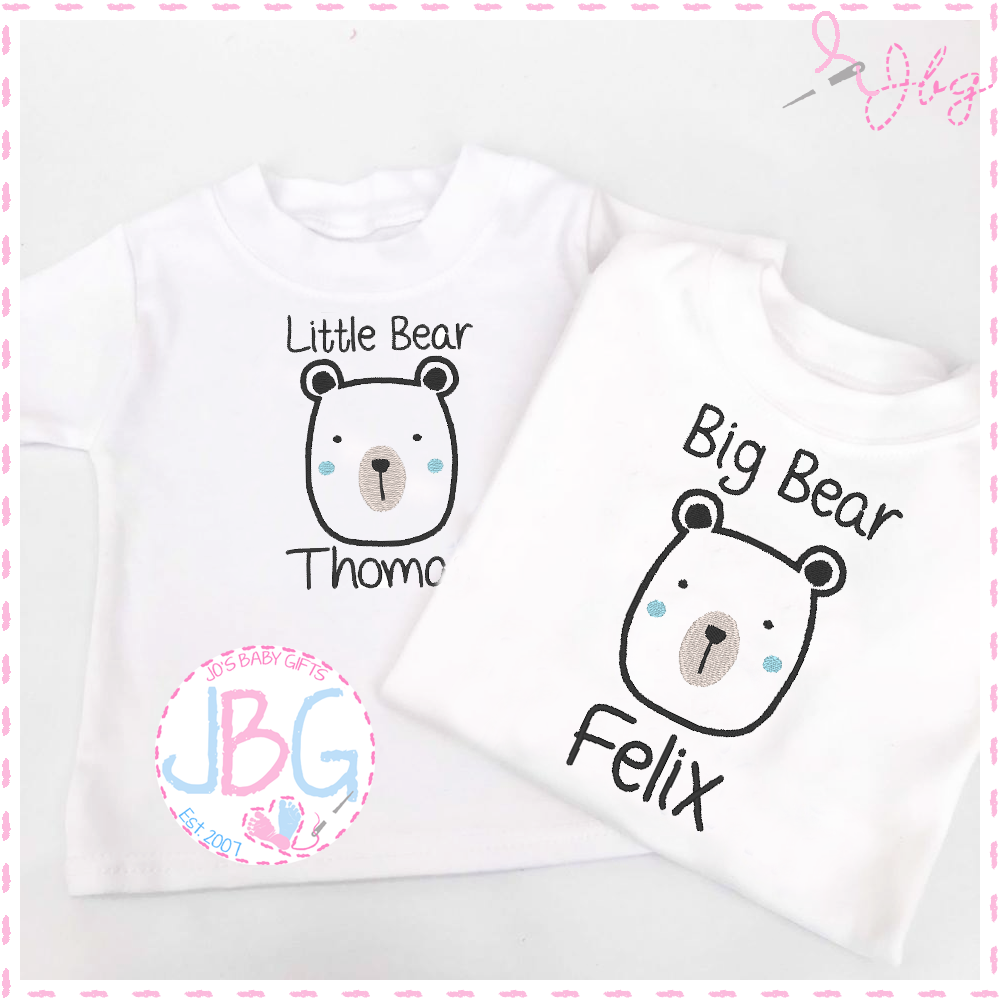 Personalised Baby Brother/Big Brother T-shirts