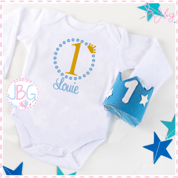 Boys First Birthday - Personalised Vest