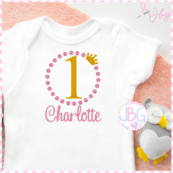 Girls First Birthday - Personalised Vest