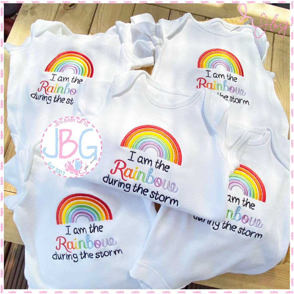 I am the Rainbow - Personalised Baby Vest