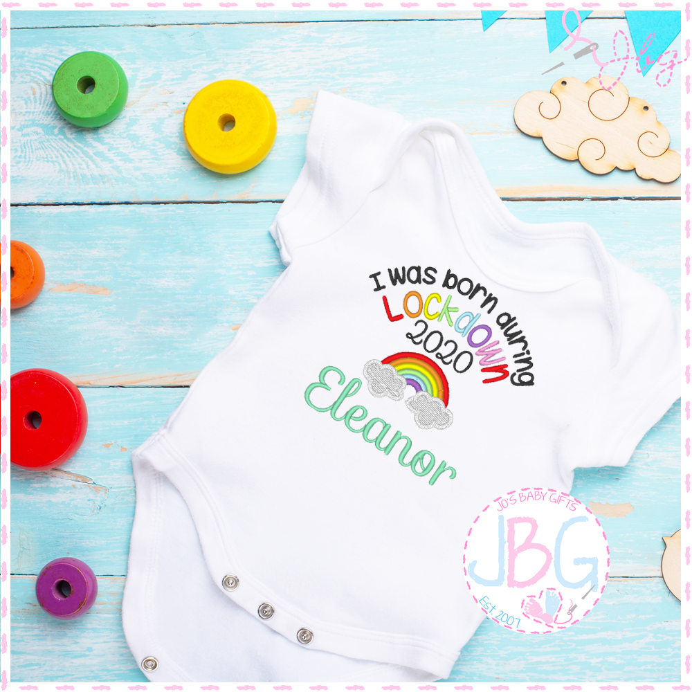 .Personalised Born During Lockdown - Baby Vest