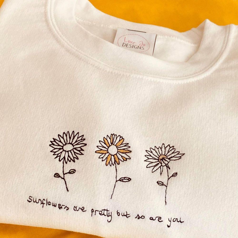 Sunflowers are pretty Sweater