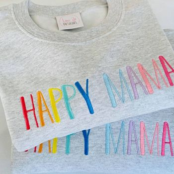 Happy Mama Embroidered sweater