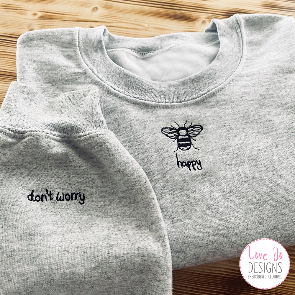 Embroidered Sweatshirt, Embroidered Sweater, custom Jumper, Cosy Jumper