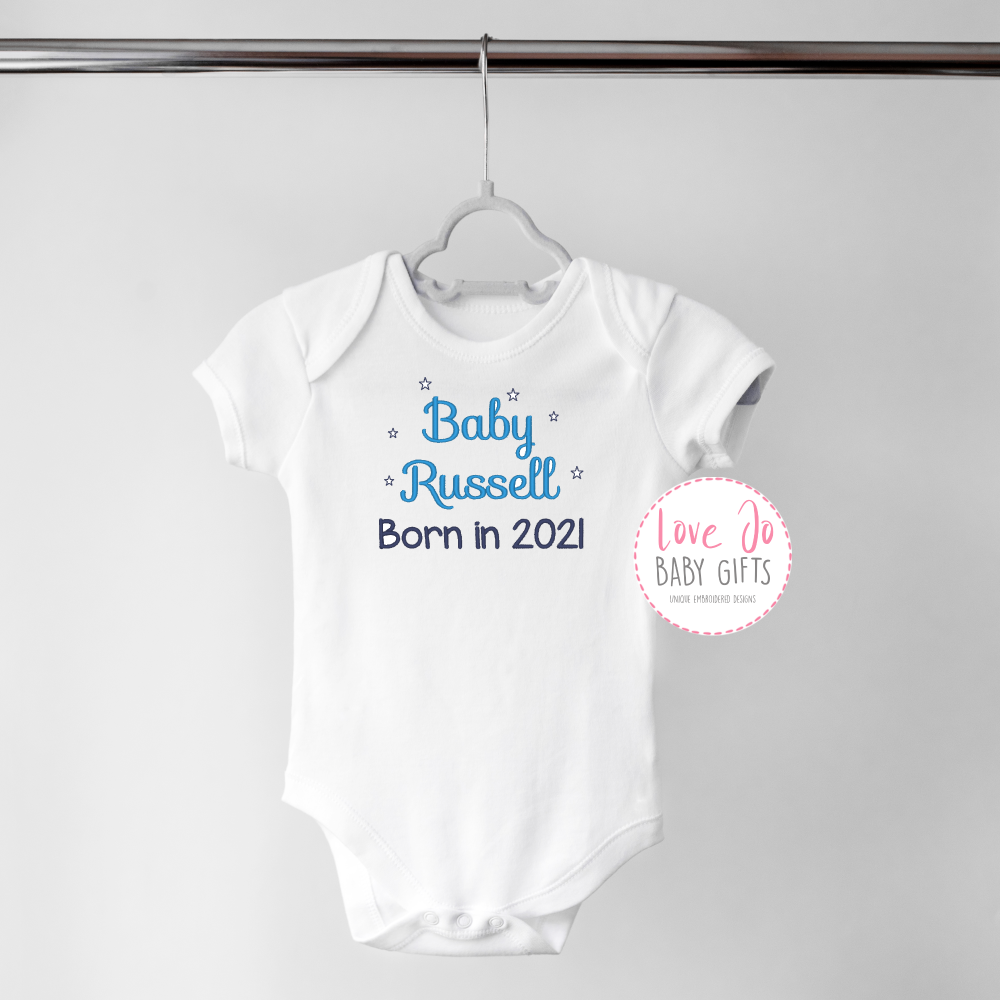 .Born in 2021 Personalised Vest