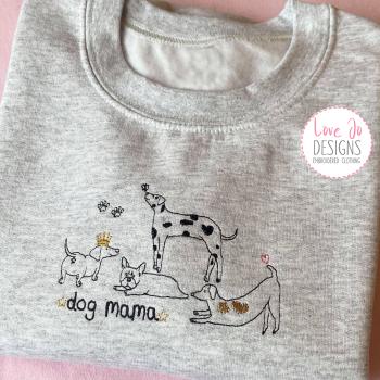 Dog Mama - Embroidered Sweater