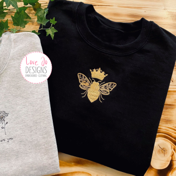 Queen Bee - Embroidered Sweater
