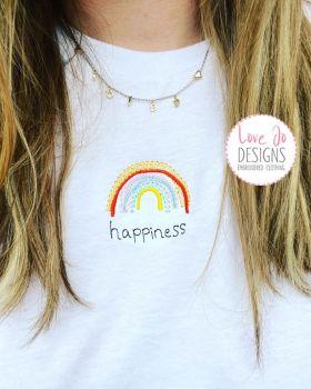 Rainbow Happiness Tee or Sweater