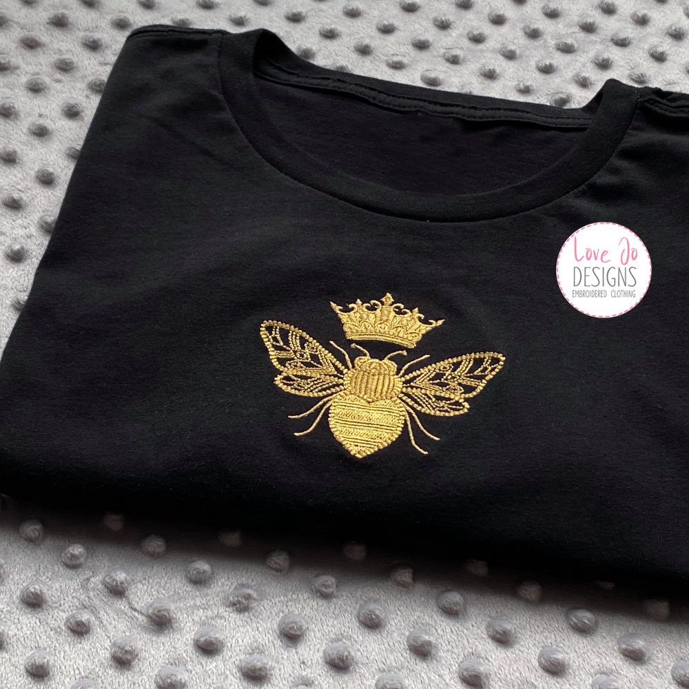 Queen Bee - Embroidered Tee