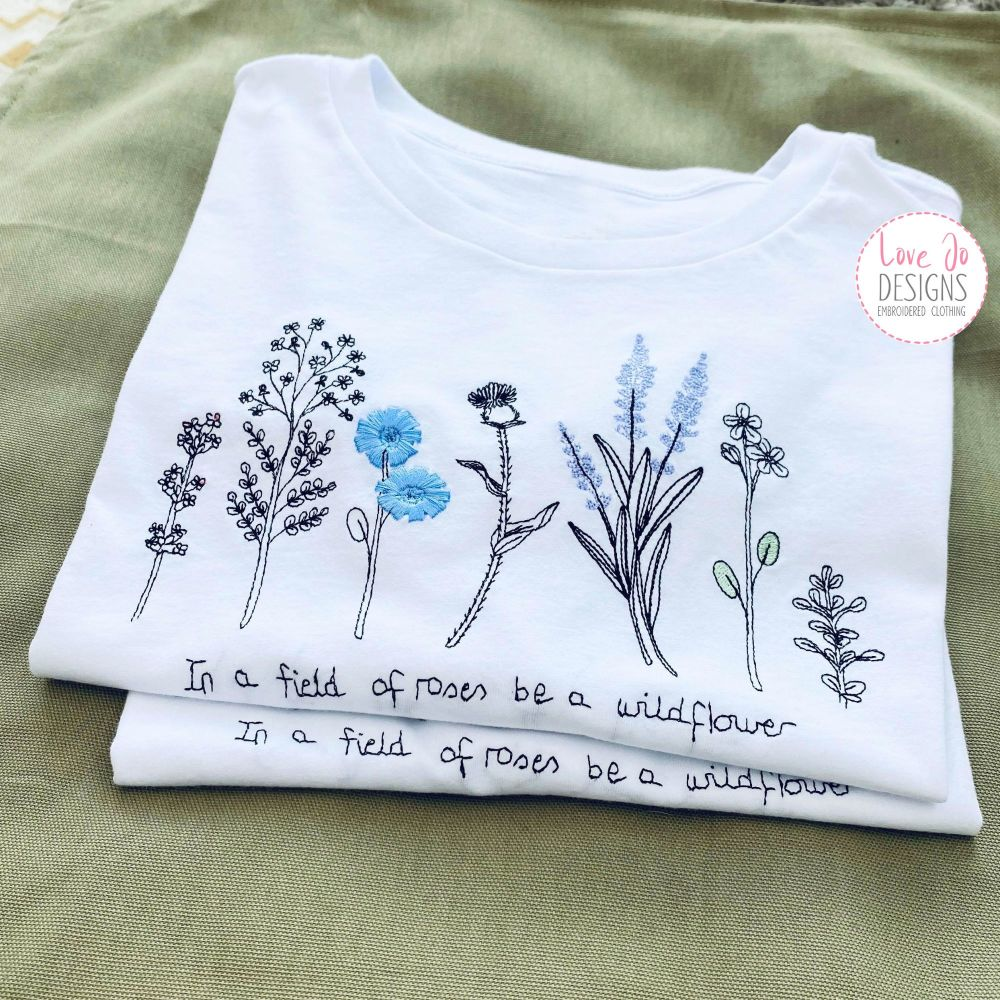 Wildflower- Embroidered  Tee