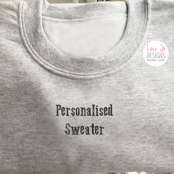 Personalised Embroidered Sweater