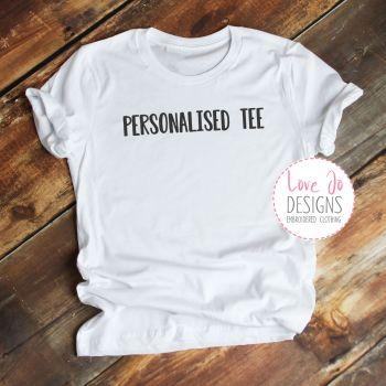 Personalised Embroidered Tee