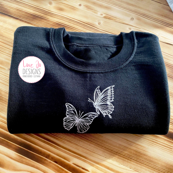 Butterflies Embroidered Sweater